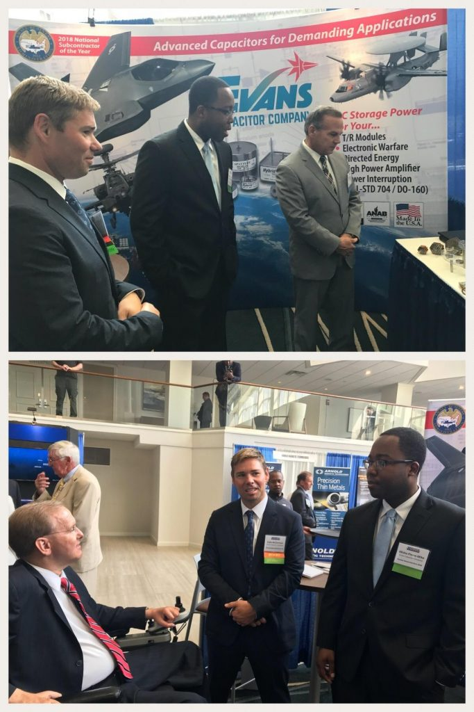 Colin McClennan and Misha Pierre-Mike at Defense Innovation Days Conference